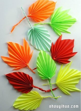 摺紙樹葉的方法步驟 葉片的折法圖解教學