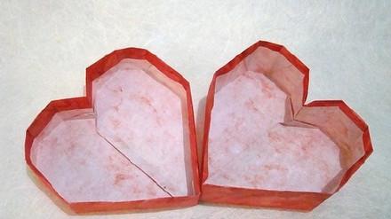 心形盒子的折法图解 折纸心形纸盒子叠法图片
