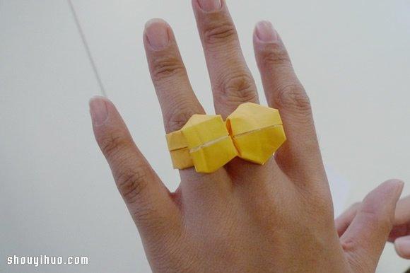 戒指的折法步驟圖解 手工摺紙手錶圖解教學