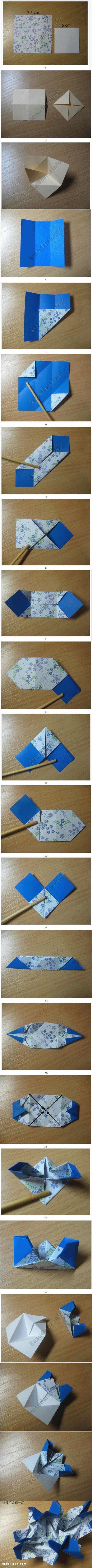 櫻草花球的折法圖解 手工摺紙製作櫻草花球