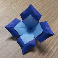 双色四叶花的折法图解 手工折纸四叶花教程图片
