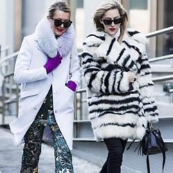 纽约时装周街拍 冬日时尚人女性御寒穿搭