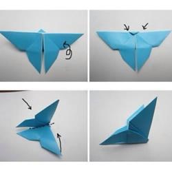 简单蝴蝶折纸图解 蝴蝶的折纸方法步骤教程