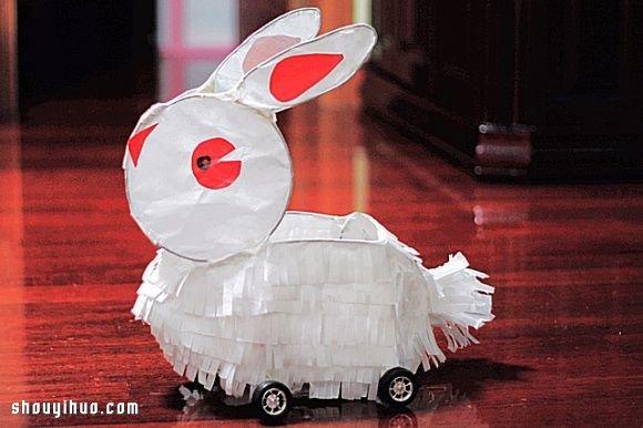 元宵节兔子灯笼制作方法 自制兔子灯的教程