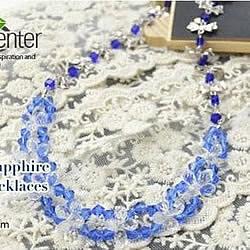漂亮水晶串珠项链DIY手工制作图解教程