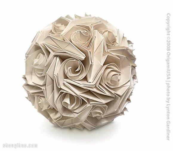 美輪美奐的手工摺紙花球作品欣賞(一)
