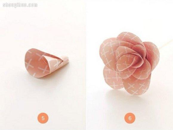 剪紙製作漂亮玫瑰花 玫瑰花的做法剪紙圖解