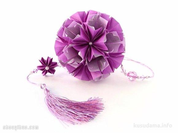美輪美奐的手工摺紙花球作品欣賞(四)
