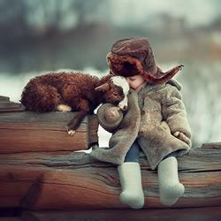 双倍融化人心!儿童与动物摄影作品欣赏