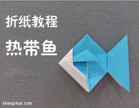 手工折纸热带鱼步骤