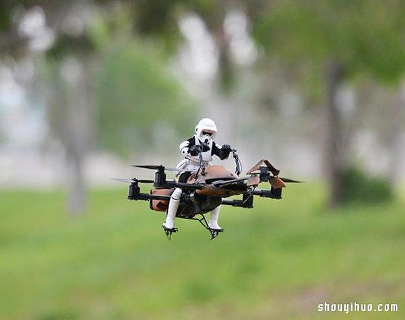 Google 工程师改造星球大战摇控飞机