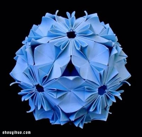 美輪美奐的手工摺紙花球作品欣賞(五)