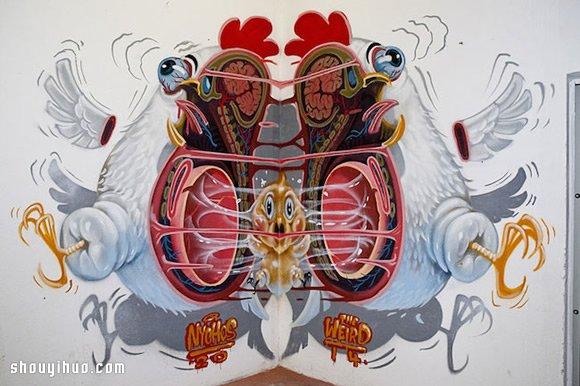诡异与可爱并存 解剖卡通人物的涂鸦艺术