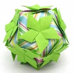 美轮美奂的手工折纸花球作品欣赏(七)