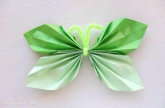 简单折纸蝴蝶的方法 容易折的蝴蝶折法图解