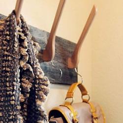 木制挂衣架手工改造 DIY超实用的衣帽架