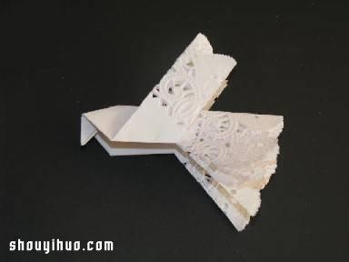 鴿子的折法圖解 圓形餐巾紙摺紙鴿子的教學