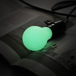 DIY不插电也能发光的夜光灯泡手工制作教程