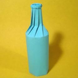 折纸立体酒瓶花瓶的折法图解教程