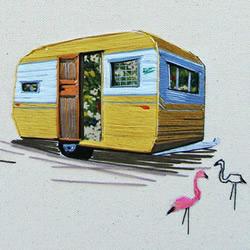 Stephanie K Clark刺绣画 勾勒出美好小屋