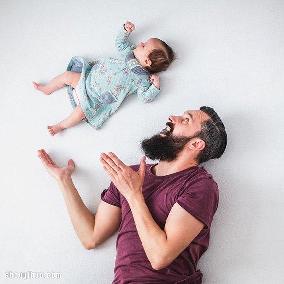 宝宝牌的超强力吹风机,能轻松地将宝宝吹起来~ 这些天马行空的画面都是在保证女儿完全安全的情况下拍摄的,Ania Waluda和Michal Zawer希望让大家明白,就算没有复杂的道具、高超的摄影和后制技术也能拍出这样令人回味无穷的创意照片,所以家中有小孩的父母们也不彷试试这样创意拍摄替自己和宝贝留下难忘的回忆吧!