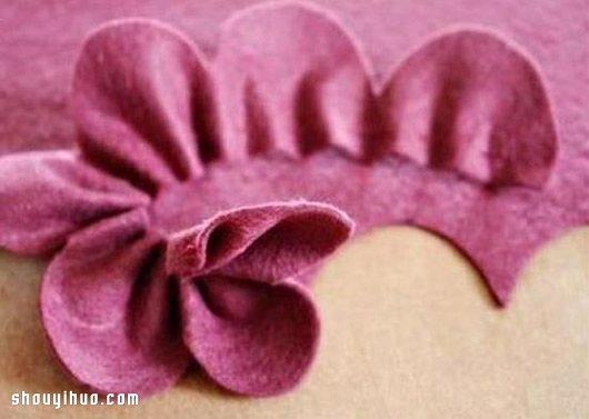 双层不织布花朵布艺手工制作图解教程图片