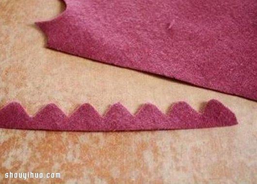 双层不织布花朵布艺手工制作图解教程