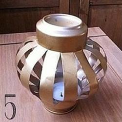 易拉罐废物利用手工制作可爱小灯笼