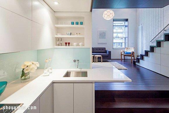 纽约曼哈顿地价之高众所皆知,但看看设计师双人组 Specht Harpman 如何在建地 40平米的限制下,创造了更高价值的 Loft 作品。而且这空间看来完全不像仅有40平米的大小,让人不得不为设计师的创造力感到敬佩!