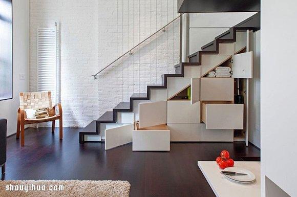 曼哈顿40平米 loft 小户型公寓装修设计