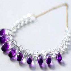 漂亮的水钻串珠项链DIY手工制作图解教程