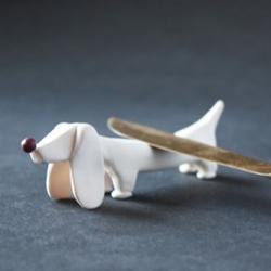 软陶粘土腊肠狗小摆件手工制作图解教程