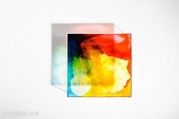 用 Gummy Bears 熊仔糖果制作七彩灯箱