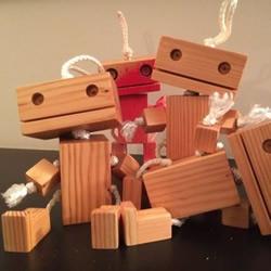 废弃木头变废为宝手工制作儿童玩具人偶