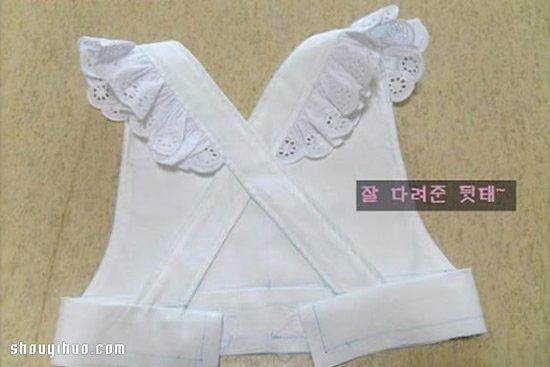 可爱女仆装裙子的制作方法图解教程超详细(2)