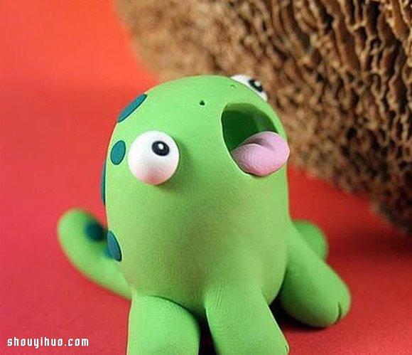 彩泥制作小怪物的方法 橡皮泥怪物diy教程