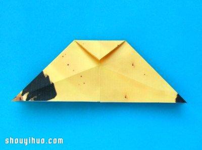 如何摺紙香蕉 摺紙香蕉的折法步驟圖解教學