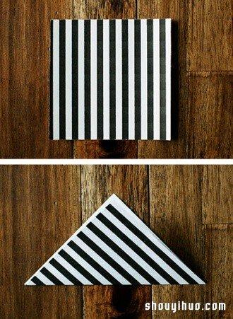 摺紙飛鏢的方法 手工摺紙兒童玩具飛鏢圖解