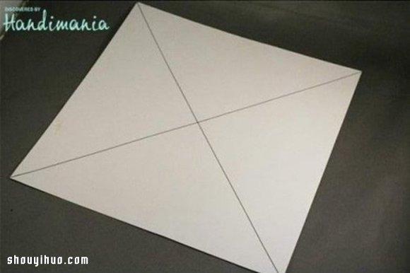 禮物包裝盒折法圖解 手工摺紙包裝紙盒方法