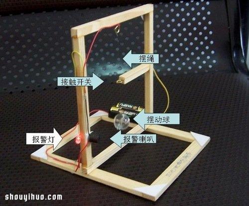 小学生电子小制作:发声发光地震报警器