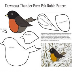 两种不织布小鸟的布艺手工制作方法带图