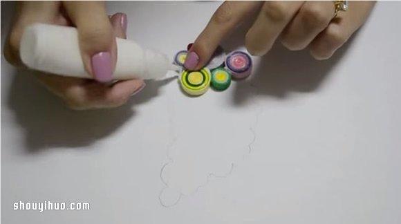 衍紙羽毛項鏈手工DIY製作方法詳細圖解教學