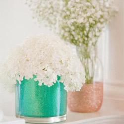 不要的玻璃瓶罐废物利用DIY制作漂亮花瓶