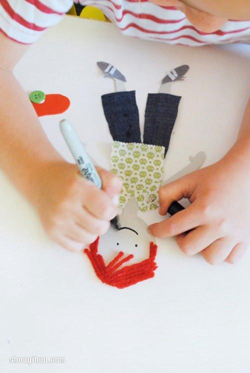 很可爱的玩具小人DIY手工制作图解教程 -  www.shouyihuo.com
