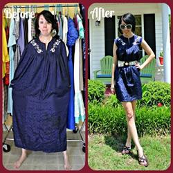 时尚达人的魔术:肥大旧衣服改造时尚新衣