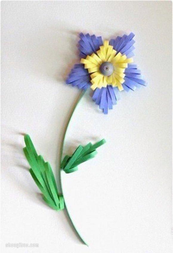 簡單衍紙花朵的製作方法圖解過程步驟