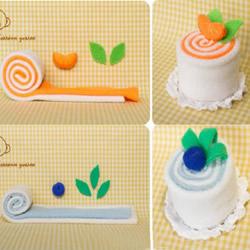 一组萌萌的不织布蛋糕甜点手工制作图解