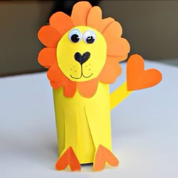 可爱小狮子的制作方法用卫生纸卷筒和卡
