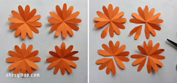 纸花的做法图解 简单手工纸花制作方法步骤