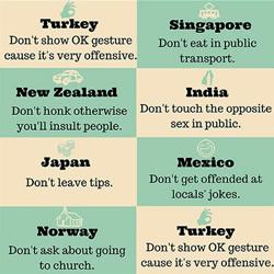 了解民情才不失礼 18个国家的旅游礼貌守